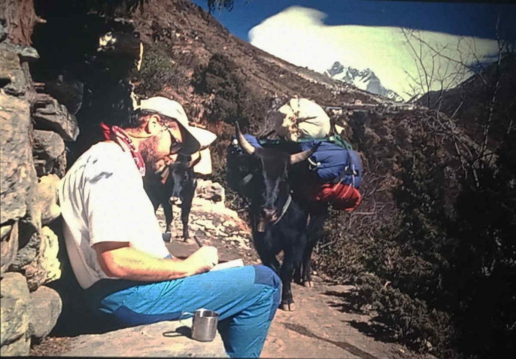 Carles Brotons en uno de sus momento de este viaje a Nepal